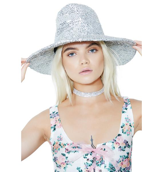 Silver Cowgirl Cutie Sequin Hat