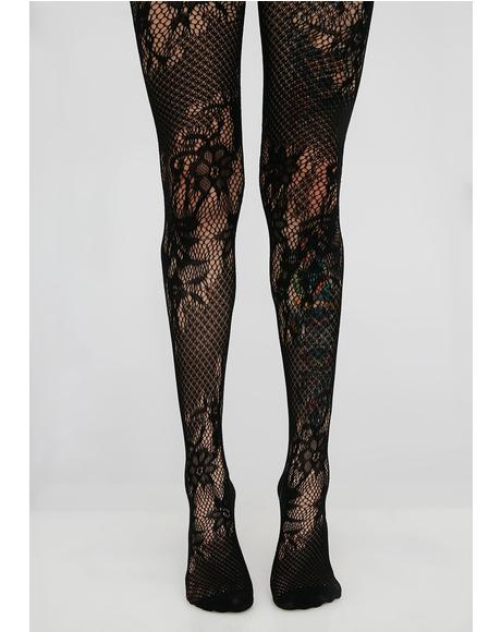 Dark Secretz Garter Tights
