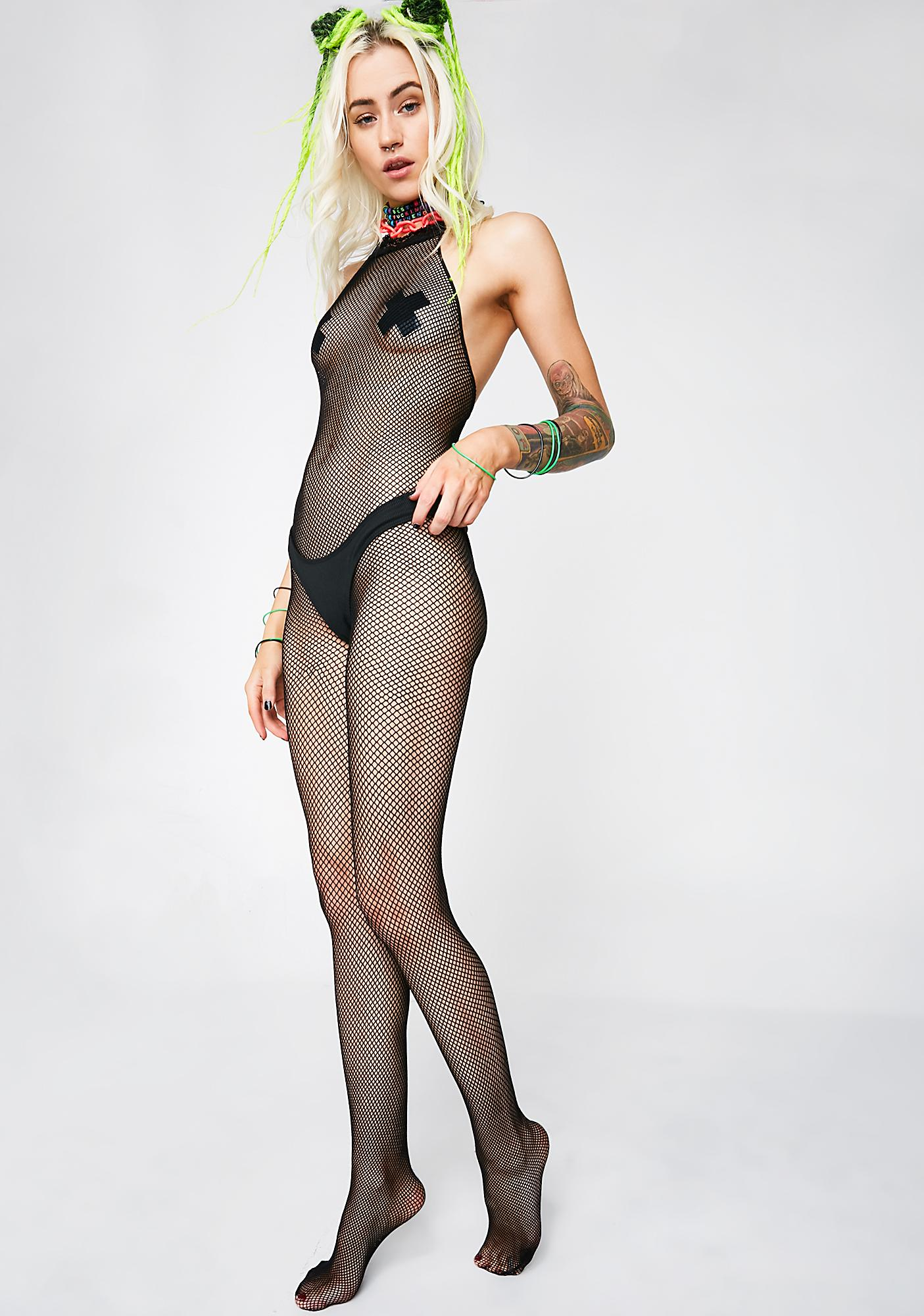 Freak Flag Fishnet Body Stocking