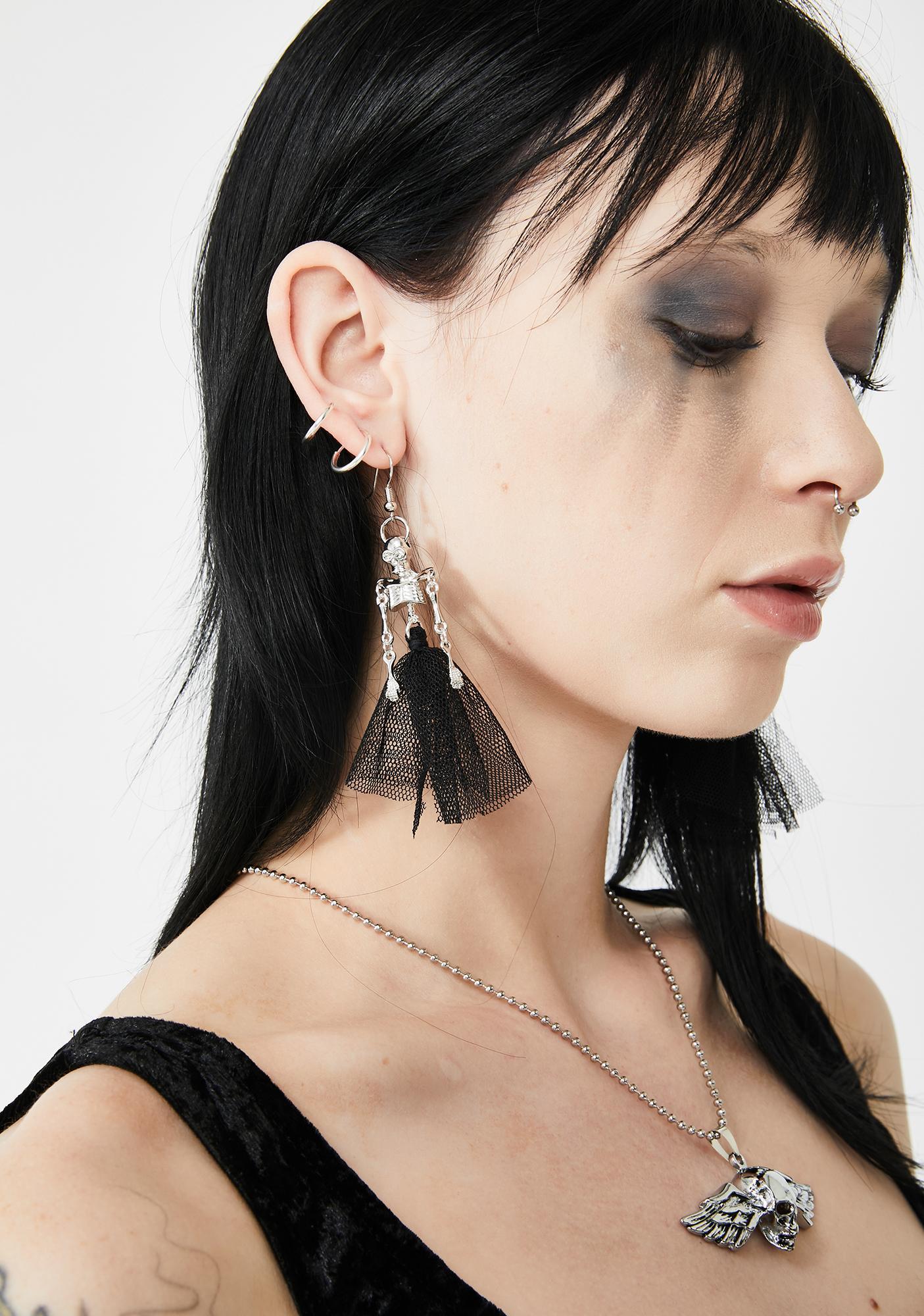 Corpse De Ballet Skeleton Earrings