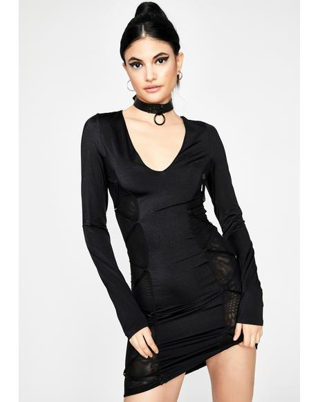 Midnight Poetry Mini Dress