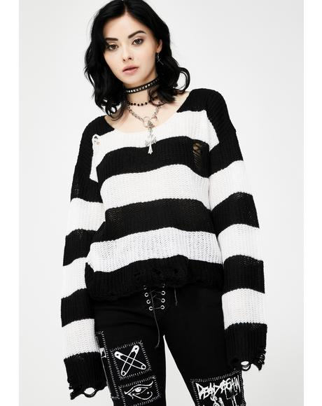 White Casey Knit Sweater