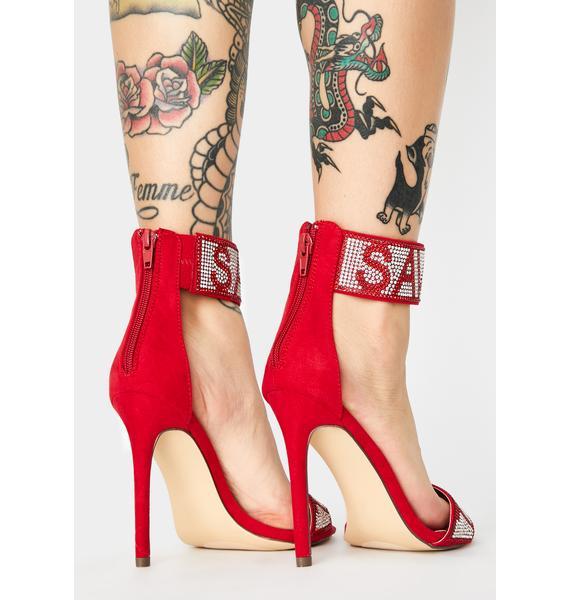Team Savage Peep Toe Heels