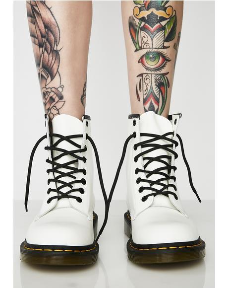 1460 White 8 Eye Boots