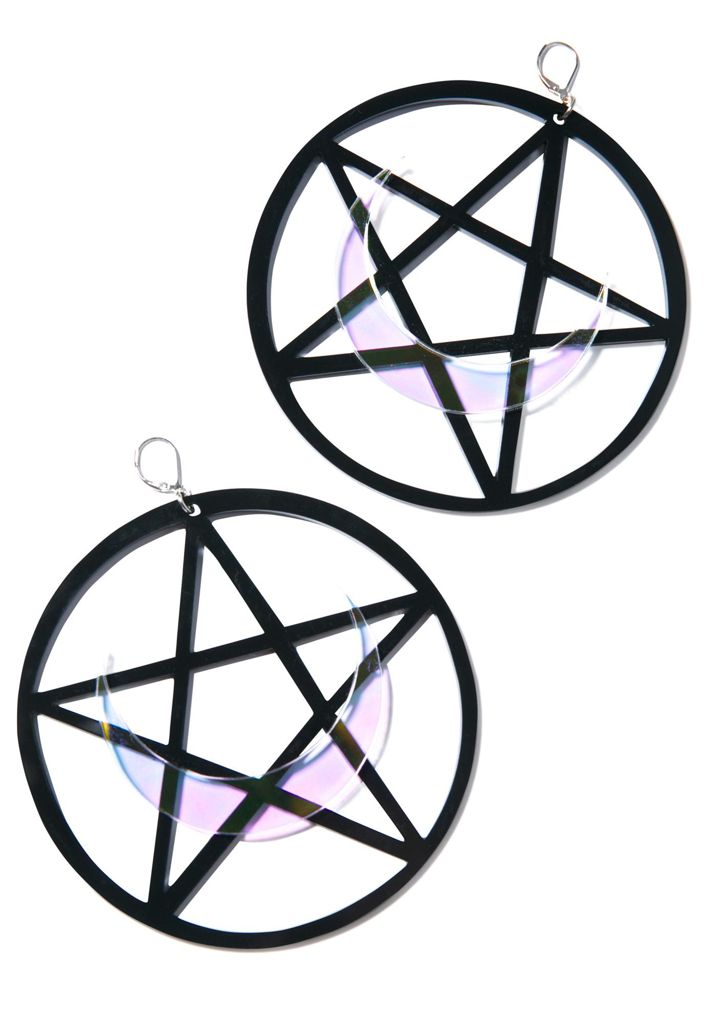 Marina Fini Luna Pentagram Earrings
