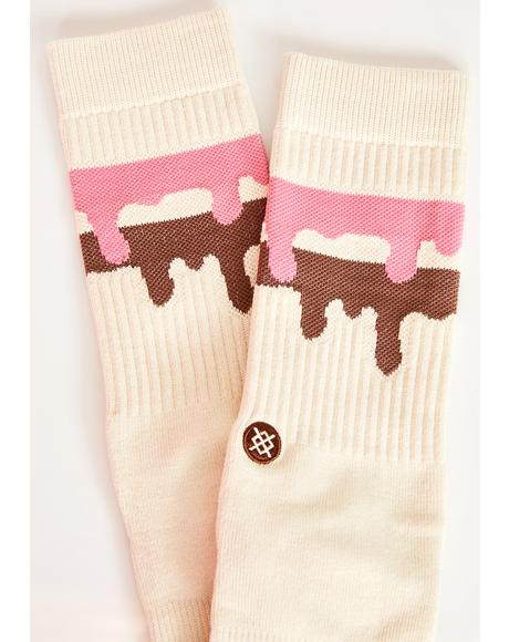 Melt Down Crew Socks