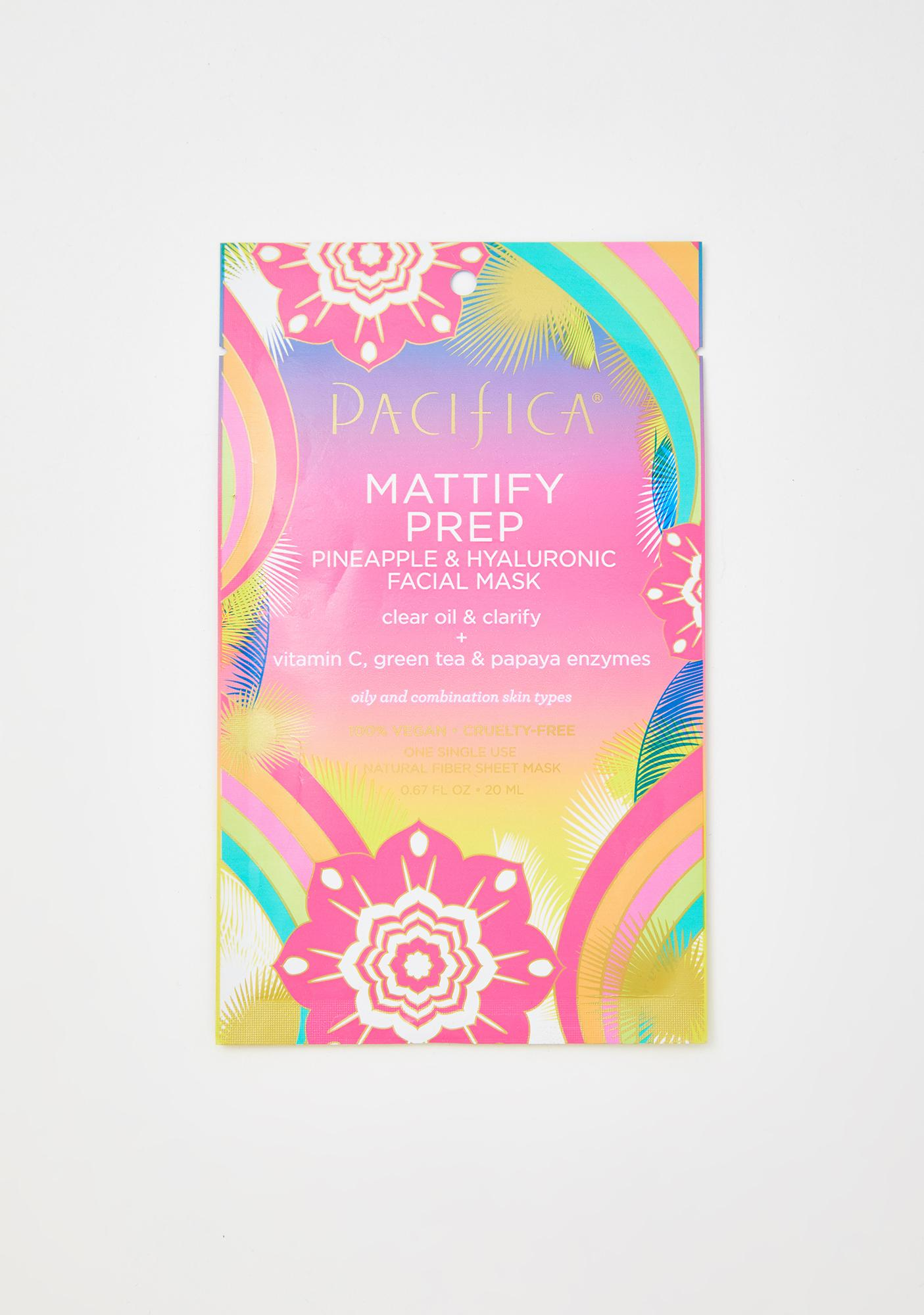 Pacifica Mattify Prep Pineapple N Hyaluronic Face Mask