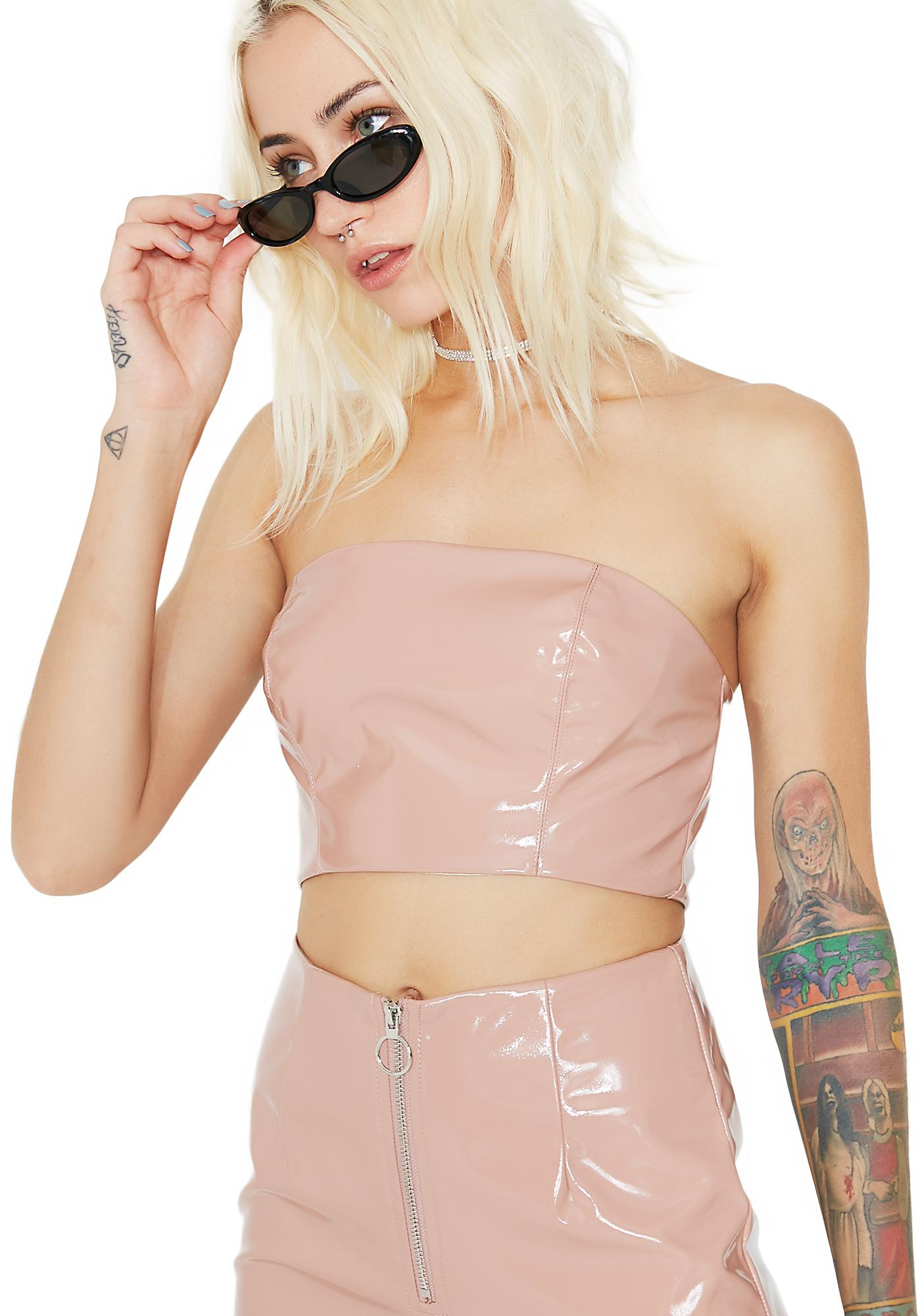 Naked Truth Vinyl Crop Top