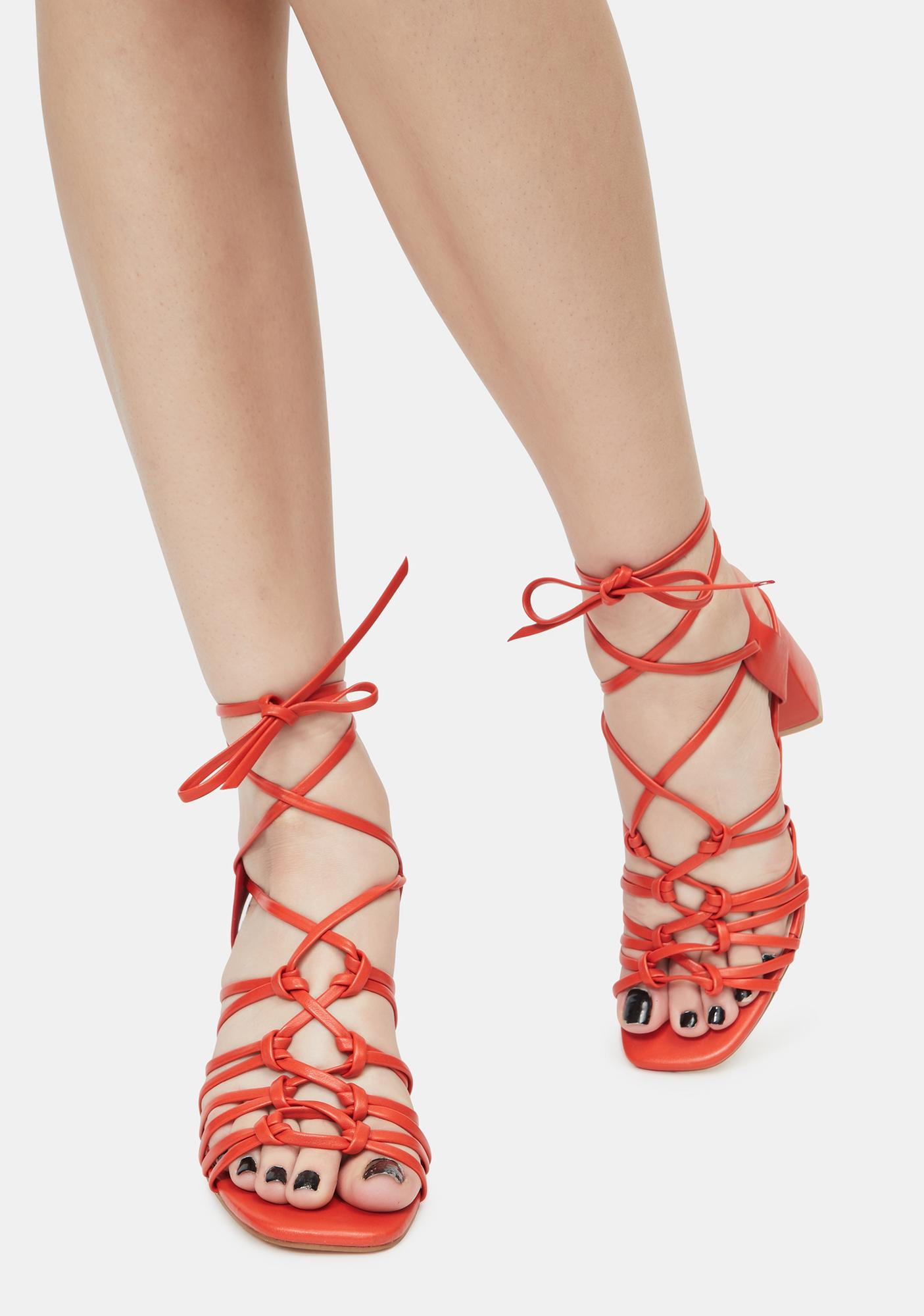Cherry Got It Like That Strappy Sandals