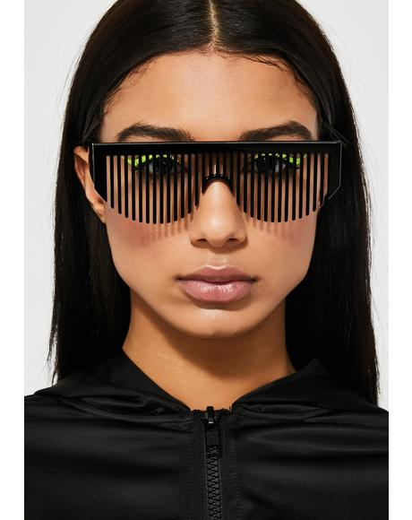 Party Rockers Comb Sunglasses