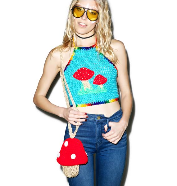 Magic Mushroom Crochet Crop Top