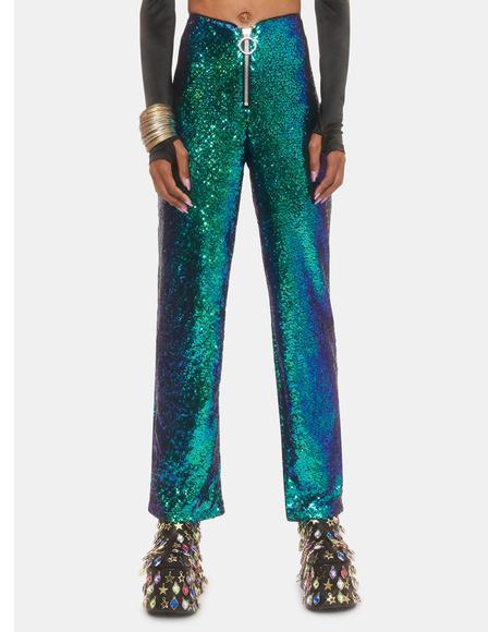Neptune Glimmer Sequin Pants