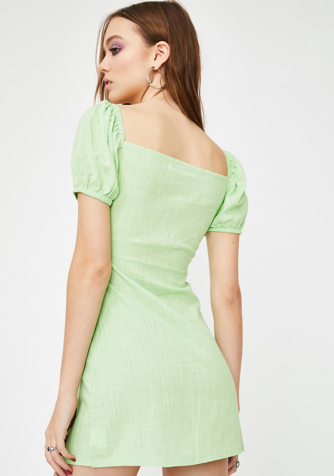 ZEMETA Green Pea Mini Dress