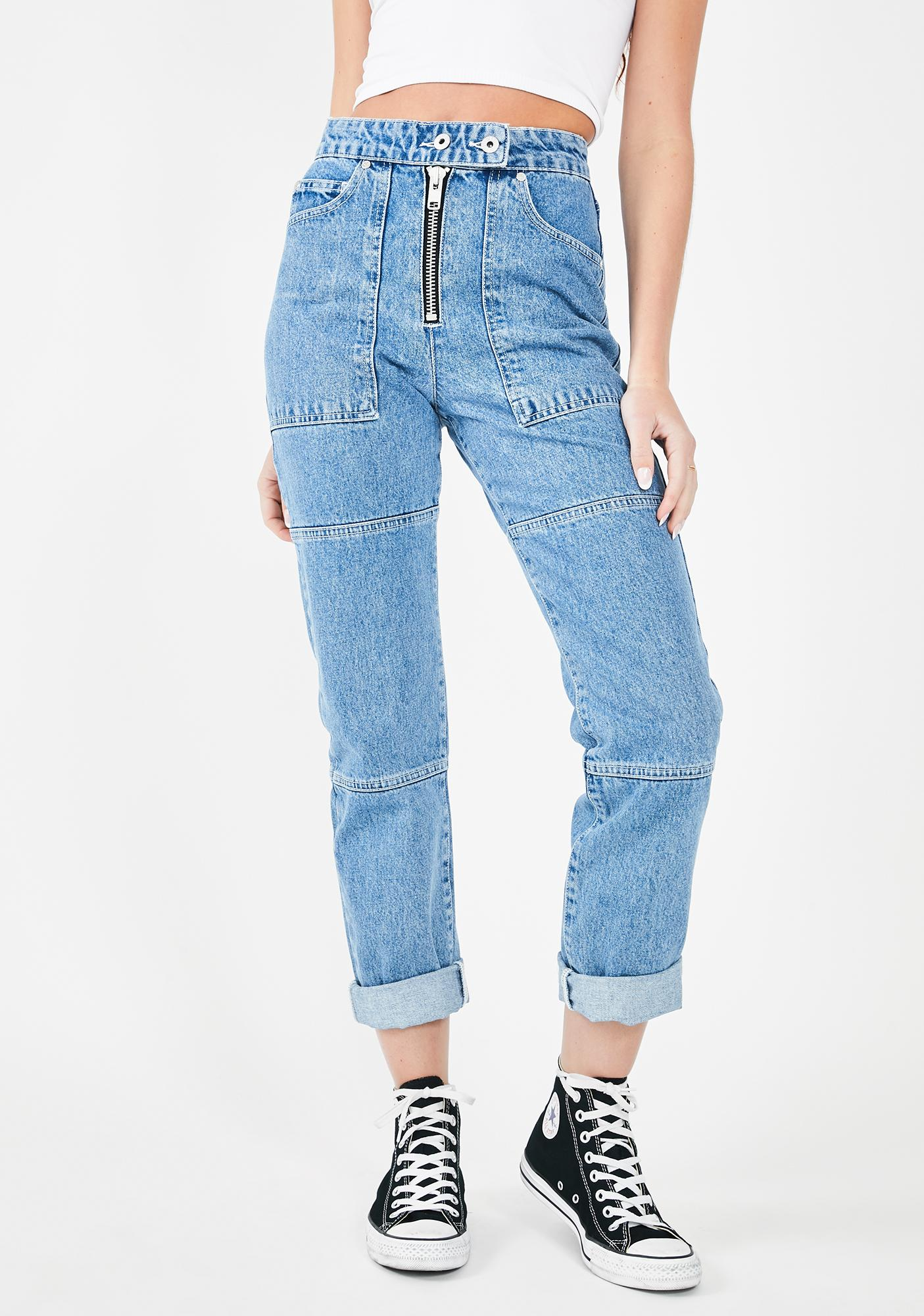The Ragged Priest Light Blue Pride Jeans