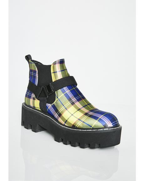 Bodak Super Badazz Plaid Boots