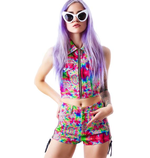 24HRS Kaleidoscope Hi Waist Shorts