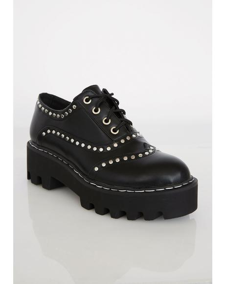 Heavy Heart Studded Brogues