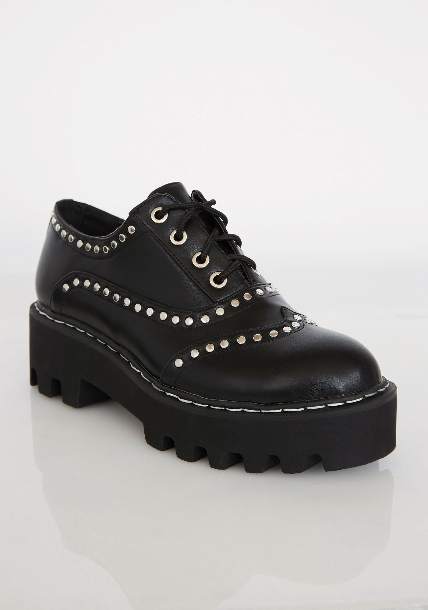 Lamoda Heavy Heart Studded Brogues