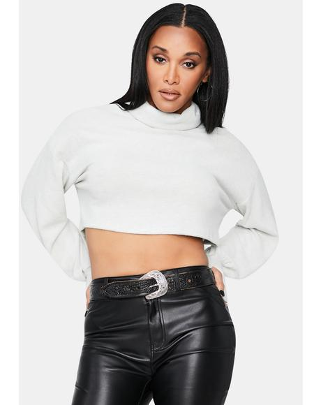 Smoke Delicious Diva Turtleneck Crop Sweater