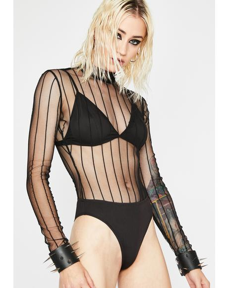 Dark Sheer Thots Bodysuit Set