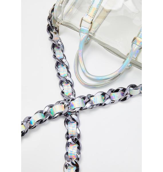 Chic Dimension Holographic Handbag