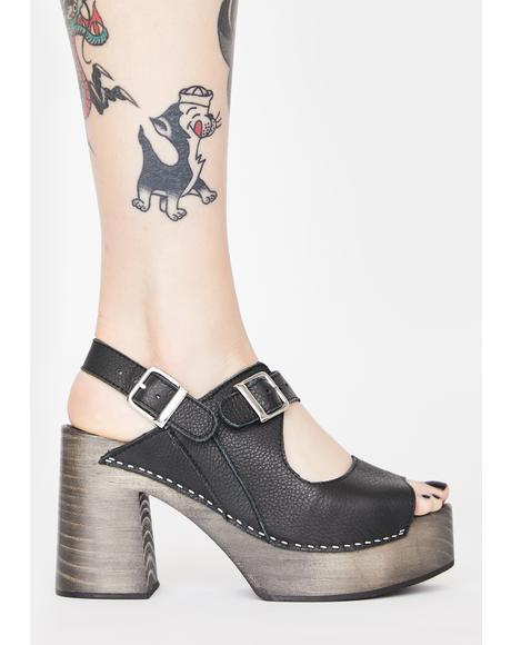 Black Belem's Clog Heels