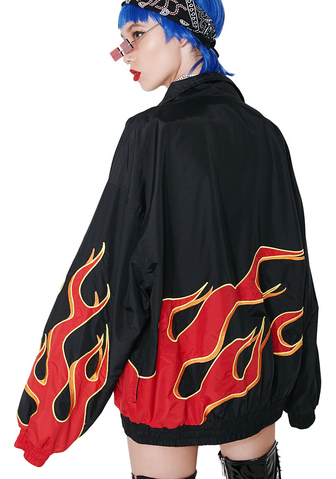 Vintage Flaming Dad Jacket