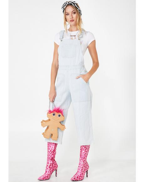 Sky Just Want You Denim Overalls