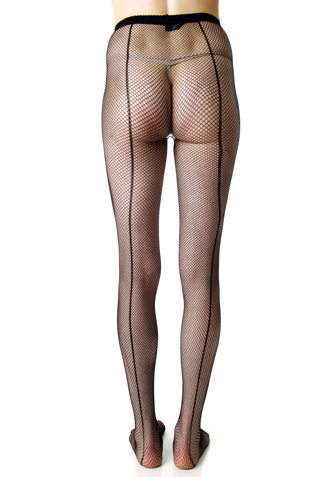 f92a9334f ... Lip Service Fishnet Back Seam Tights ...