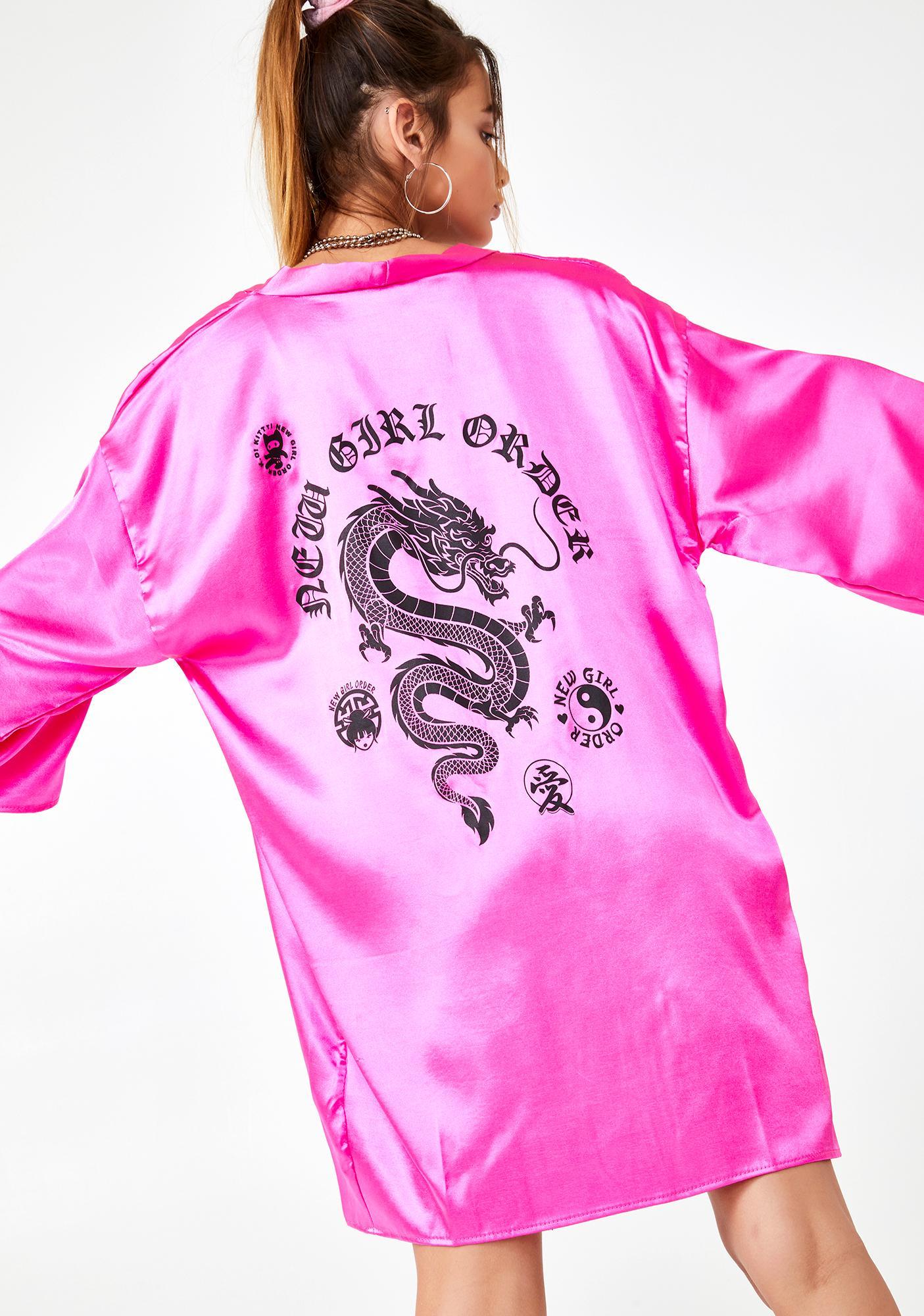 NEW GIRL ORDER Candy Dragon Print Kimono