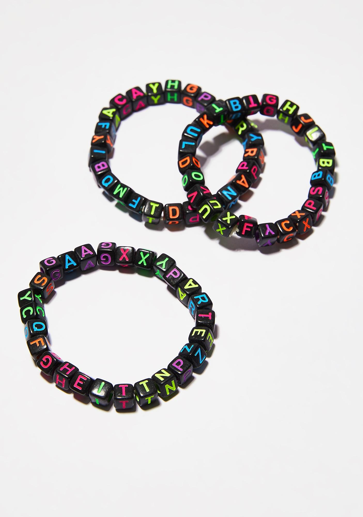 Know Ur ABCs Block Bracelets