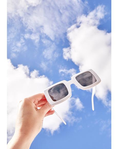 Better Days Ahead Square Sunglasses