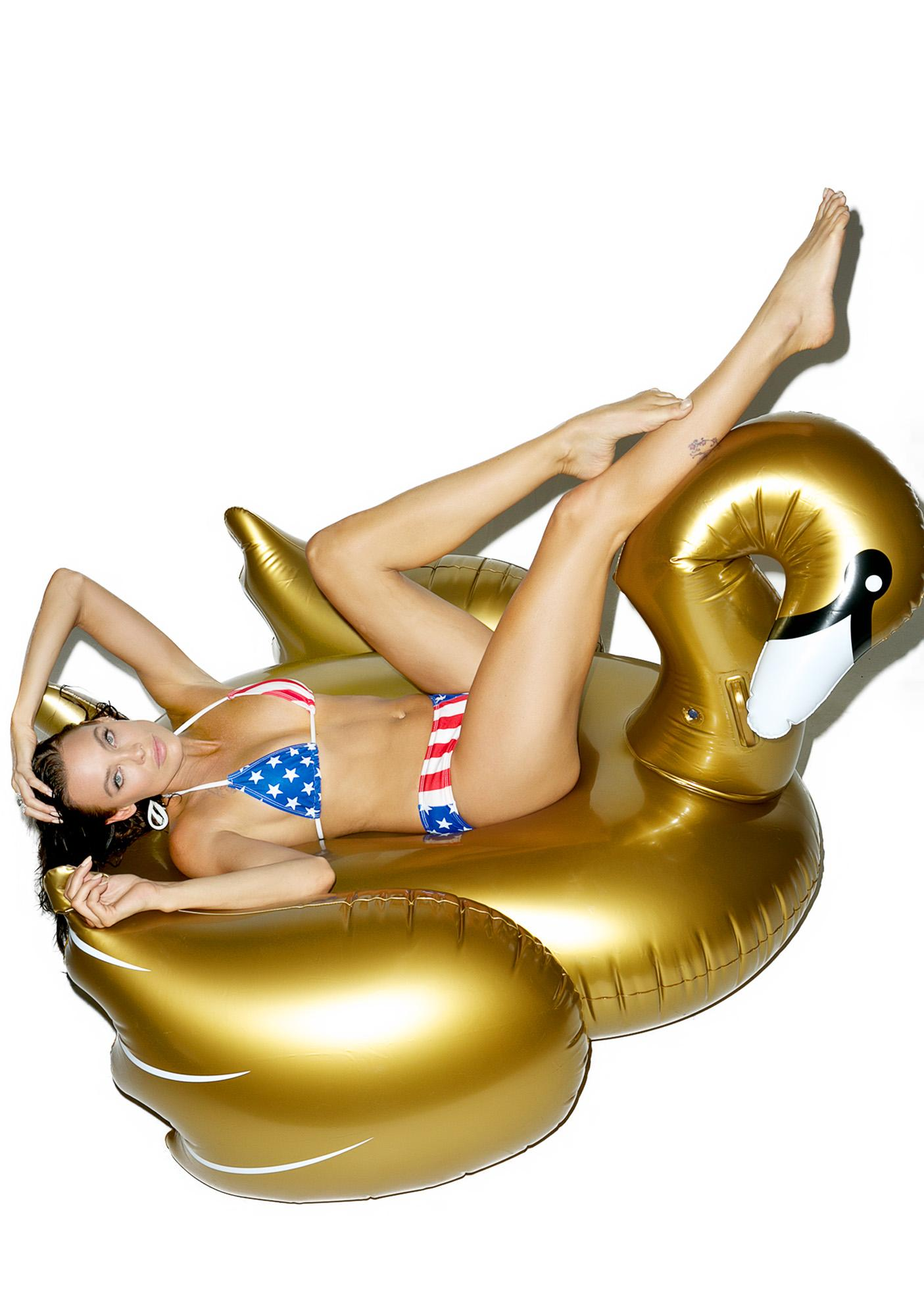 Midas Touch Swan Pool Float