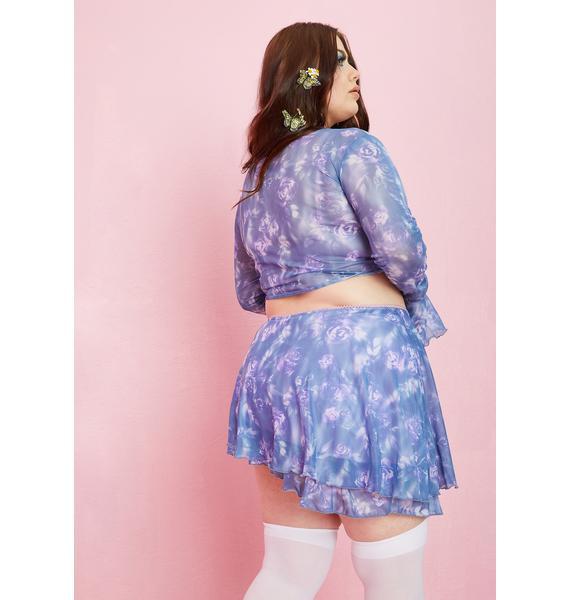 Sugar Thrillz Fresh Bed Of Roses Ruffle Skirt