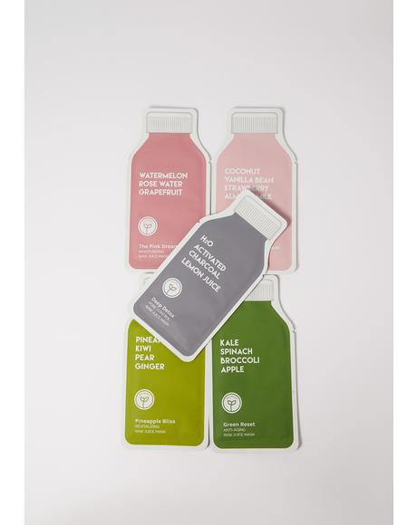 Beauty Raw Juice Cleanse 5pc Mask Set
