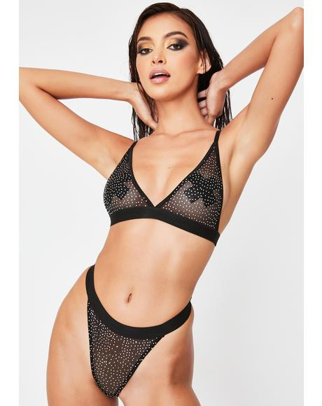 Diamonds Dancing Sheer Bralette Set