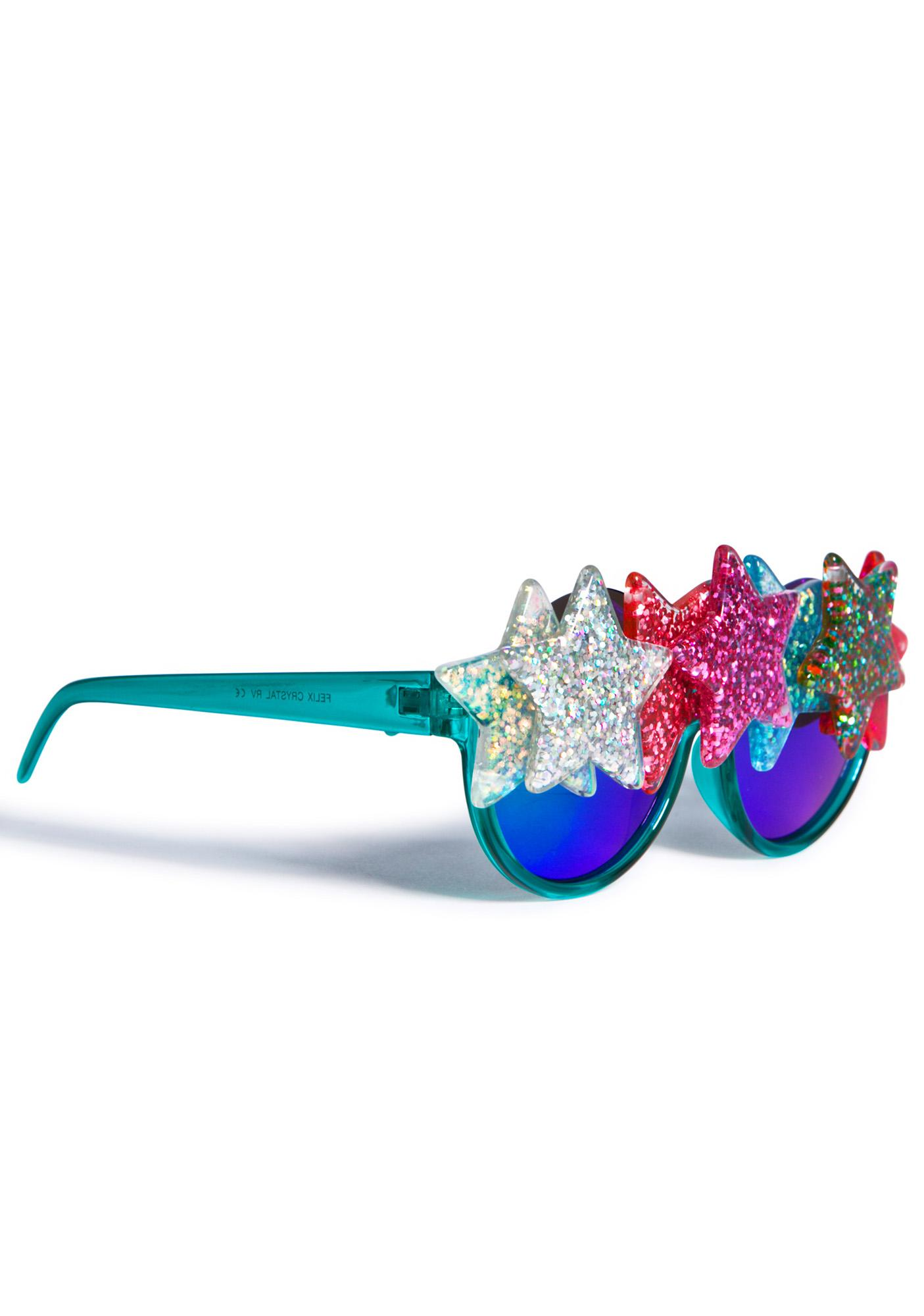 Gasoline Glamour Fantasia Shooting Star Acid Sunglasses
