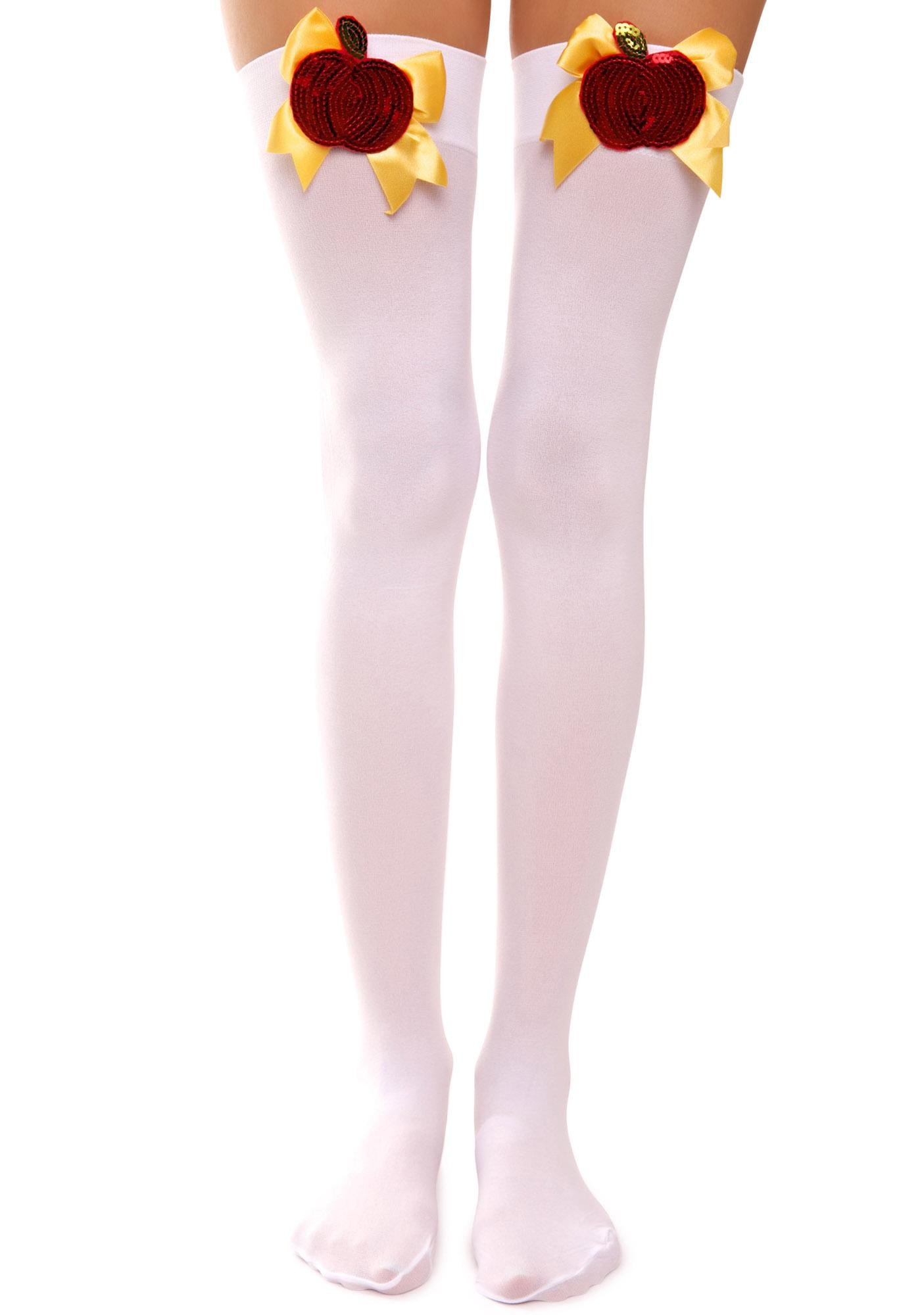 Poison Apple Opaque Thigh Highs