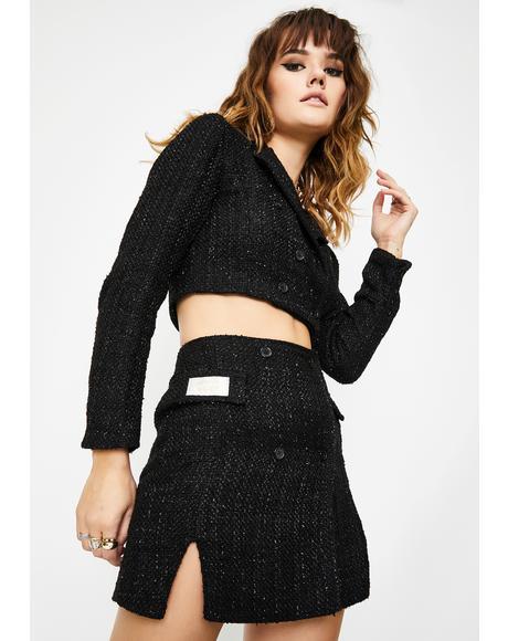 Sparkle Blazer Mini Skirt