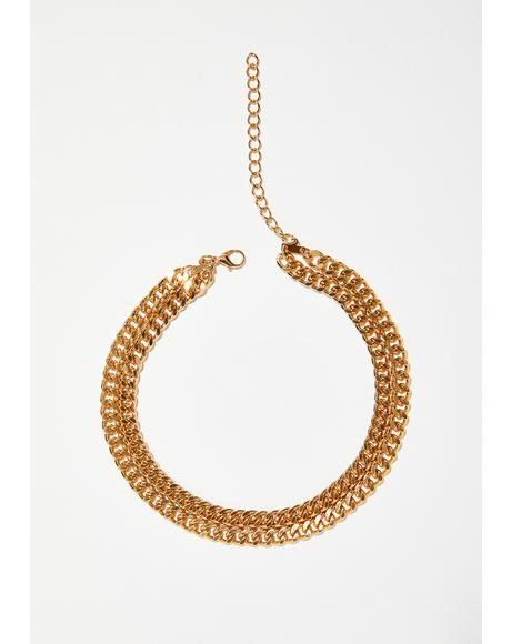 Stay Golden Chain Choker