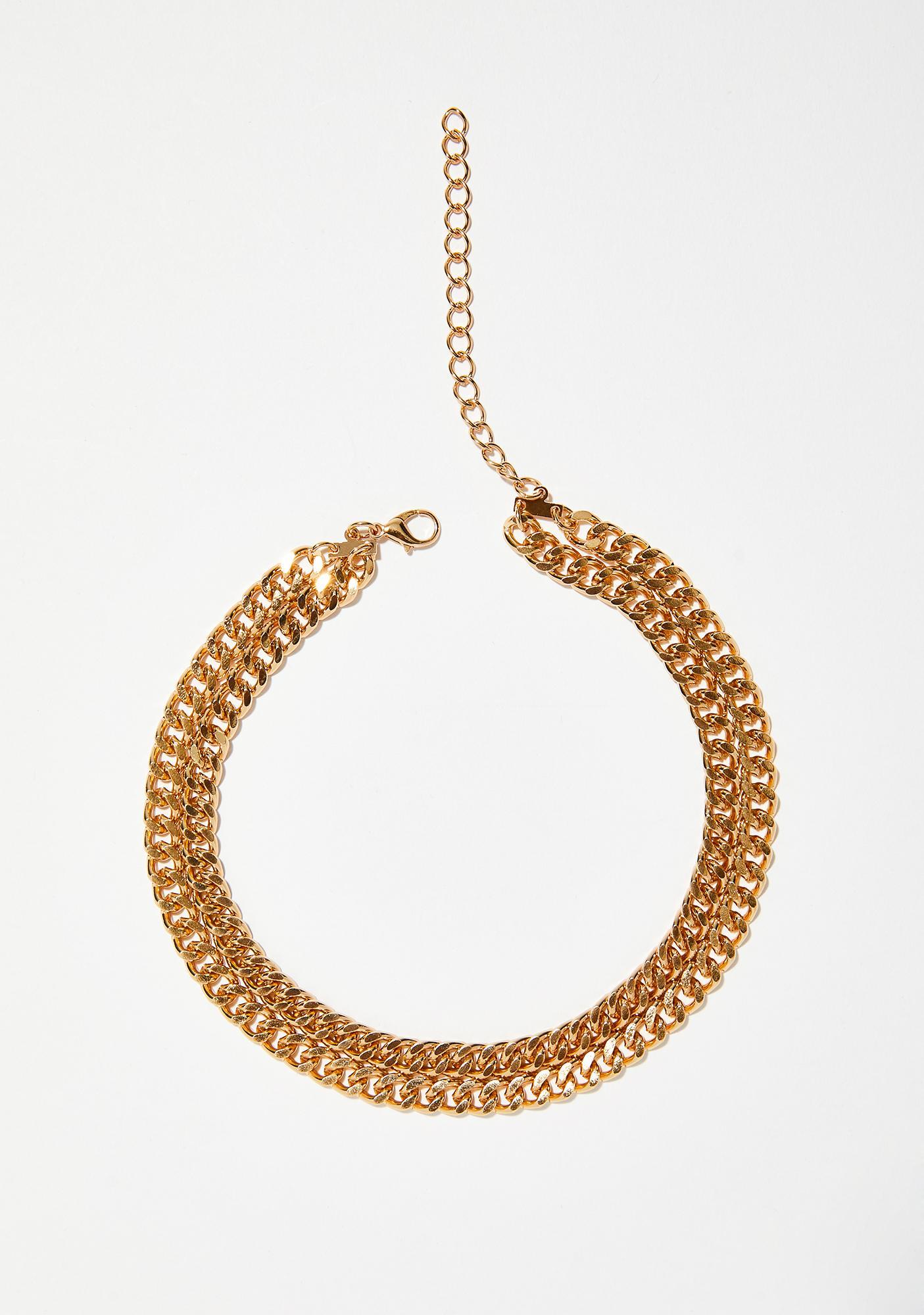 Stay Golden Chain Choker
