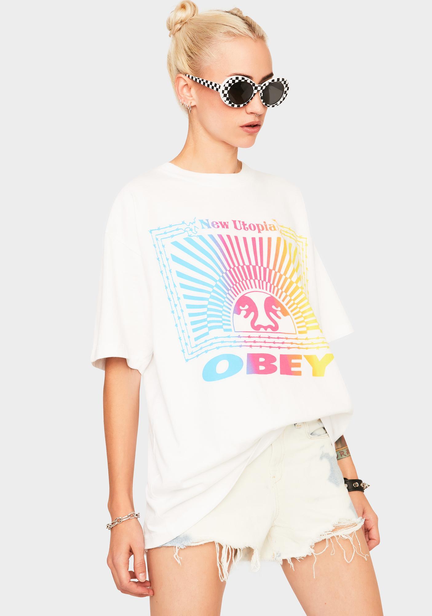 Obey New Utopia Graphic Tee