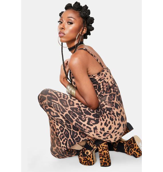 Kiki Riki Gal's Best Friend Leopard Print Maxi Dress