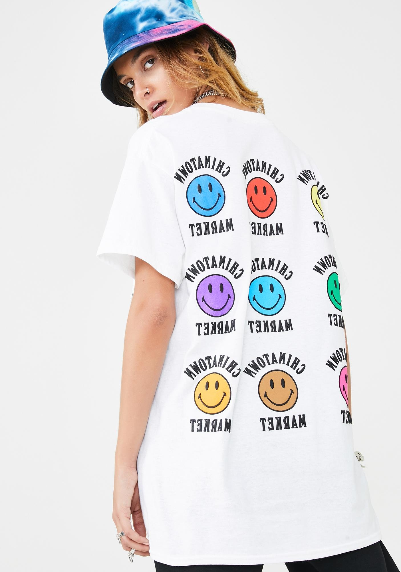 CHINATOWN MARKET Color Smiley T-Shirt