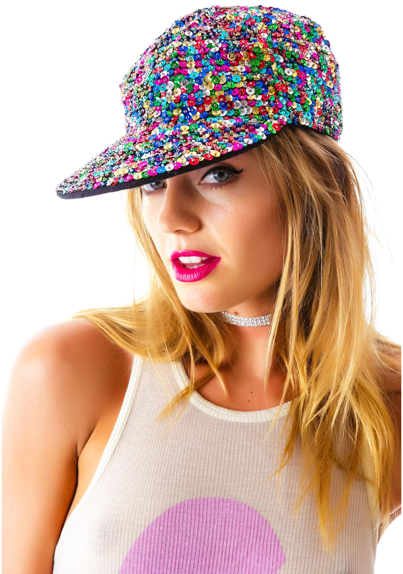 So Glam Sequin Cap