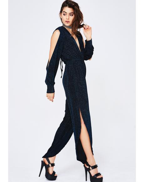 Midnight Storm Shimmery Jumpsuit