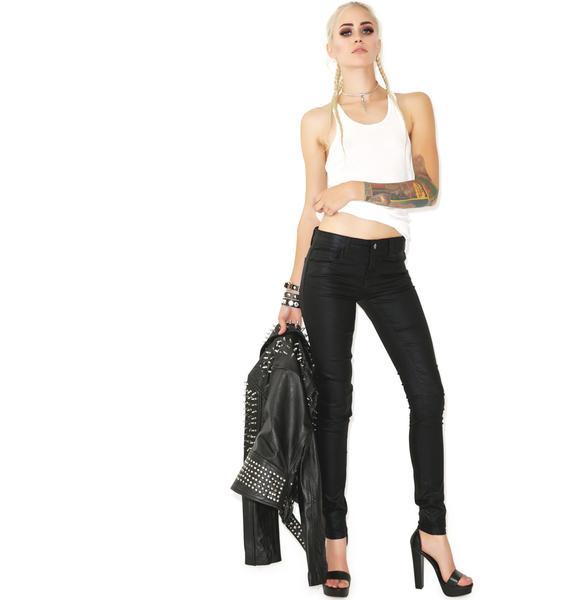 Lip Service Shimmer Slick Stretch Jeans