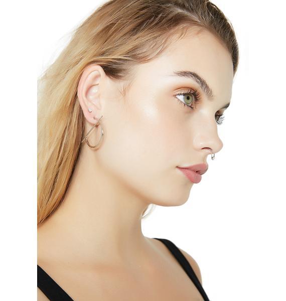 Straight Up Hoop Earrings