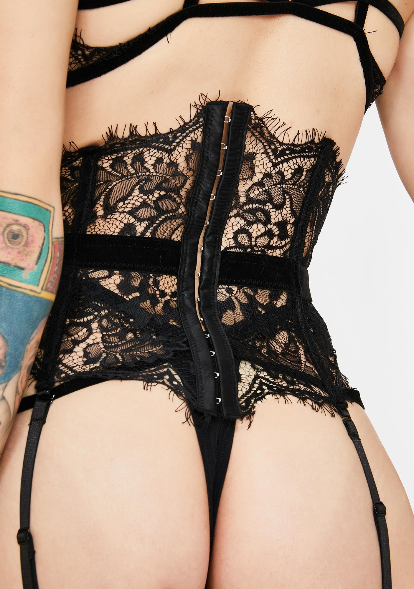 Lashing Out Lace Corset