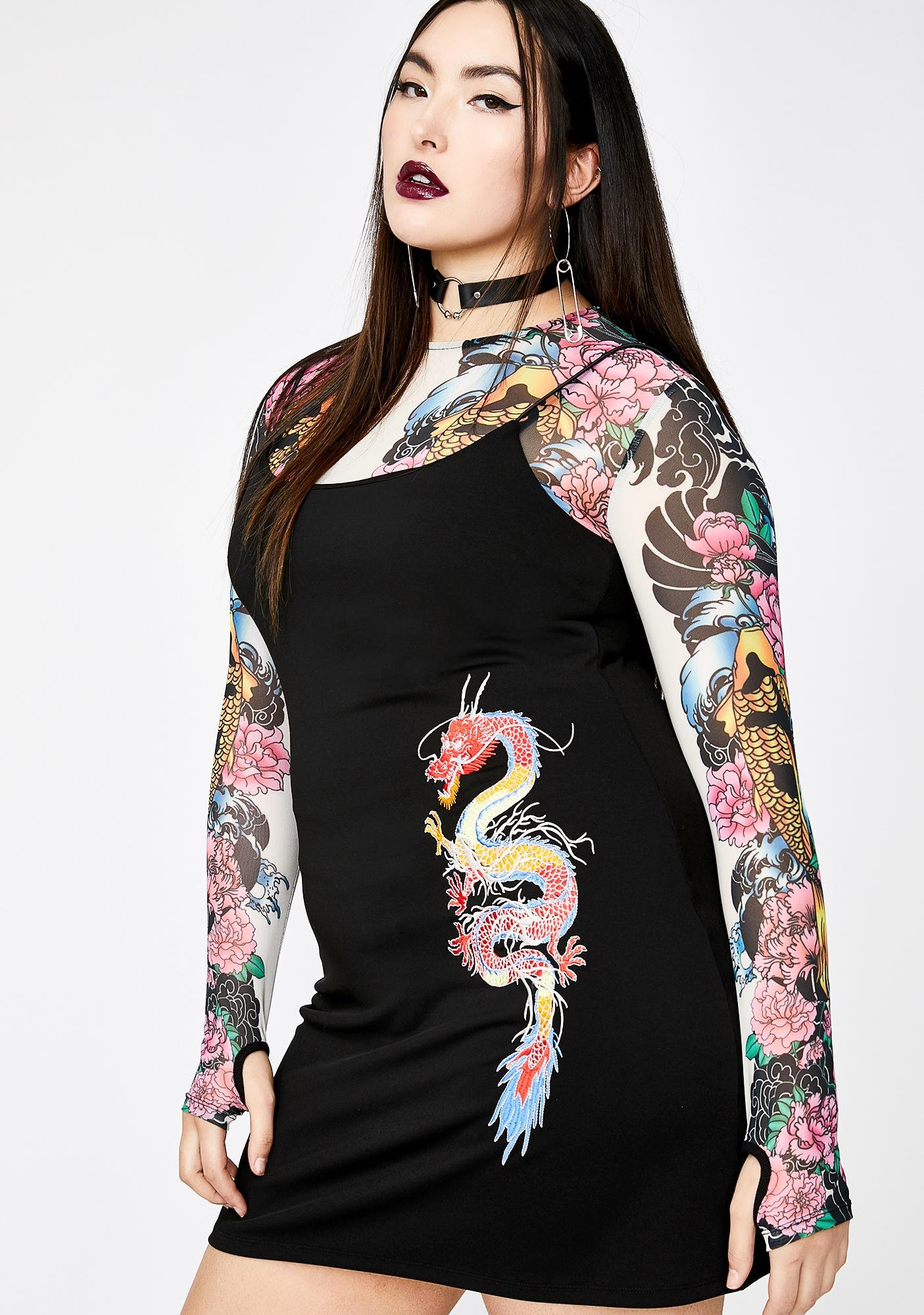 Current Mood All-Mighty Urban Legend Dragon Dress
